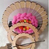 Дети DIY круговой ткацкий станок игрушка ручное вязание Деревянные игрушки Дети ткацкий станок обучающая игрушка плетеная игрушка