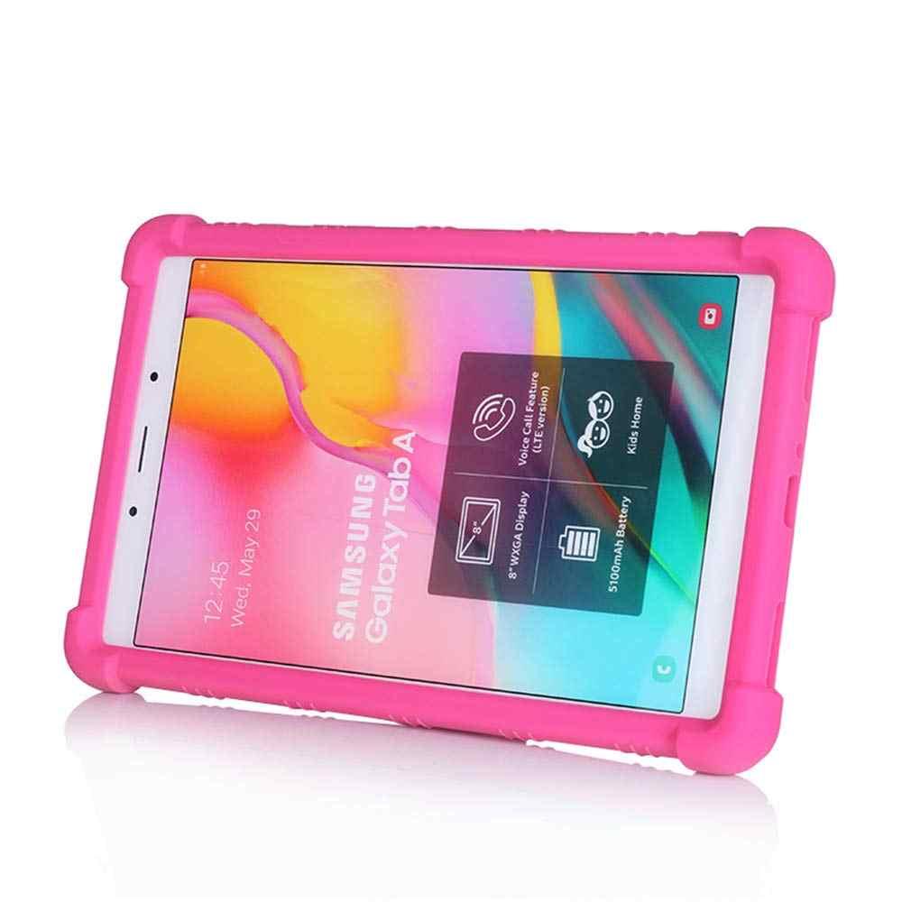 เด็กKickstand SiliconสำหรับSamsung Galaxy Tab 8.0นิ้ว (2019) SM-T290 T295 T297แท็บเล็ตกันกระแทกShell