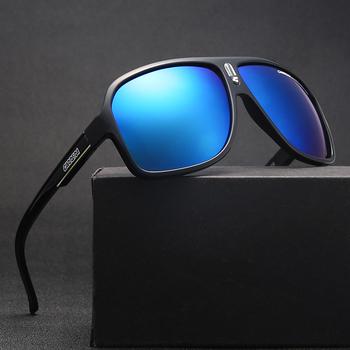 Klasyczne okulary przeciwsłoneczne mężczyźni kobiety Vintage Retro sport jazda ponadgabarytowe okulary przeciwsłoneczne duże oprawki kolorowe okulary zewnętrzne UV400 tanie i dobre opinie GOOOG CN (pochodzenie) Akrylowe Goggle Dla osób dorosłych Z tworzywa sztucznego MIRROR Przeciwodblaskowe 54mm carrera 03
