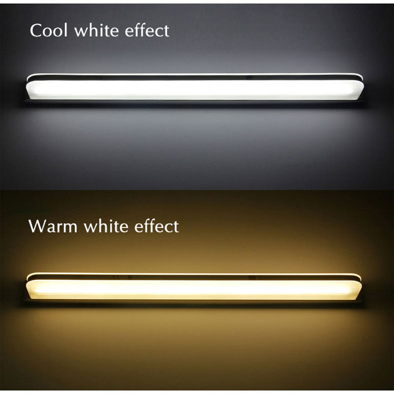 <font><b>120</b></font> 100 80 60CM Modern Led Wall Lamp Bathrom Lamp Bath mirror front Light Acrylic Wall Light Luminaires 110v 220v image