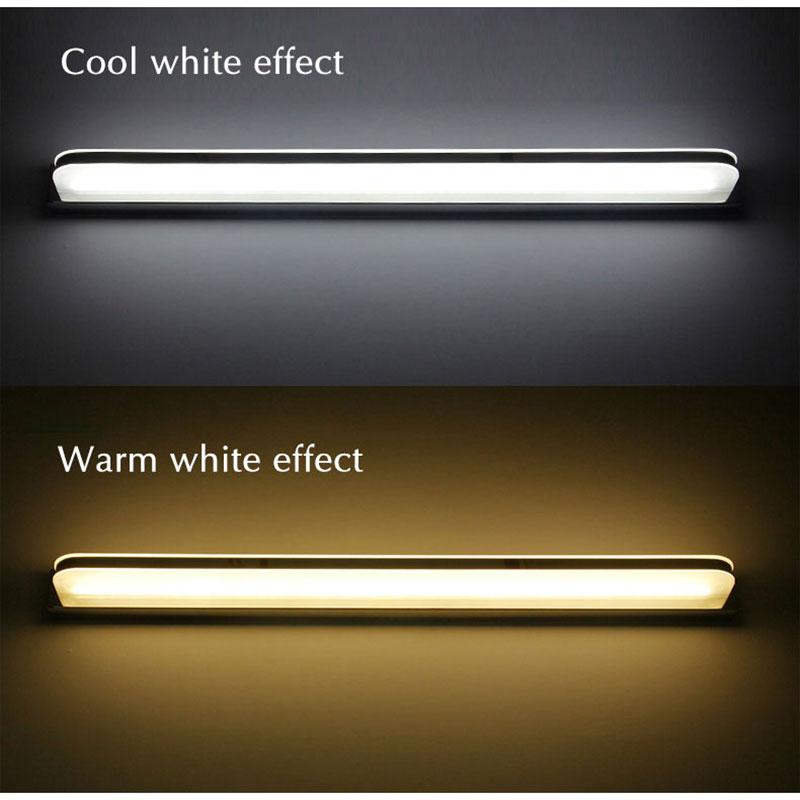 120 100 80 60CM Modern Led Wall Lamp Bathrom Lamp Bath Mirror Front Light Acrylic Wall Light Luminaires 110v 220v