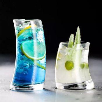 4 sztuk kreatywny koktajl szkła żaglówka kształt szkła kieliszki do wody sok piwo wino whisky a koktajle tanie i dobre opinie cocktailgeek ROUND Szkło Ekologiczne Zaopatrzony