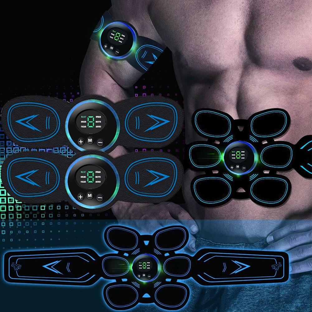 Equipment EMS Trainer PU Toner Slimming Exercise Abdominal Smart Belt Muscle Stimulator Set Gym USB Home Fitness