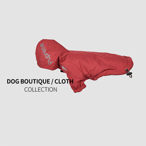 New type of pet clothes winter dog clothing plush and thick warm shock coat waterproof two legged hooded raincoat