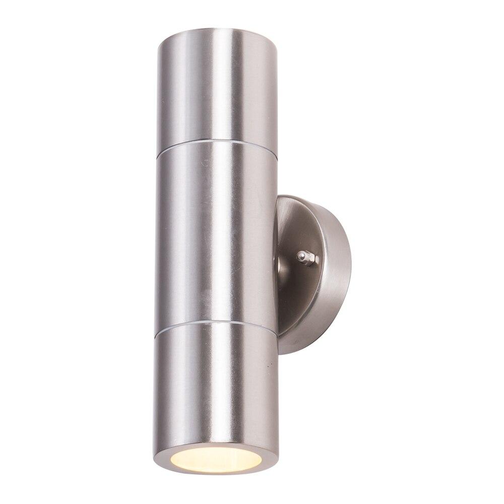 aco inoxidavel exterior led wall arandelas lampada para cima para baixo luz de parede exterior com