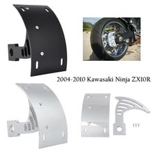 цена на Motorcycle Parts Swingarm Side Mount Curve License Plate Bracket for 2004 2005 2006 2007 2008 2009 2010 Kawasaki ZX10R ZX 10R
