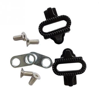 Camping Mini Bike Self-Locking  Set  Cycling Pedal Accessories Steel Screws For Shimano SPD#0919 bicycle pedal mtb bike self locking spd pedal clipless pedal platform adapters for shimano spd looking keo system accessories