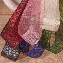 100yards 25mm 38mm korean glitter metallic ribbon for garment apparel accessories gift packing bouquet bow