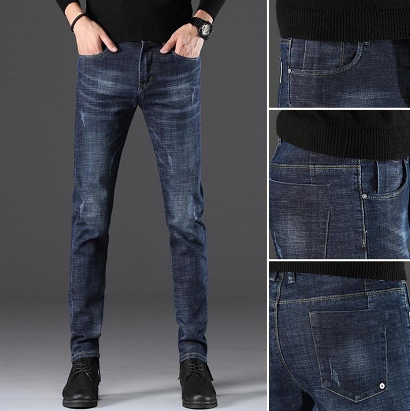 2020 Spring New Jeans Pants Slim Feet Pants Trend Trousers Men QA8-01-24