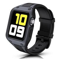 Funda protectora con correa suave para Apple Watch SE Series 6, 5, 4, 3, 44mm, 42mm, Correa deportiva de TPU, parachoques para pulsera iWatch