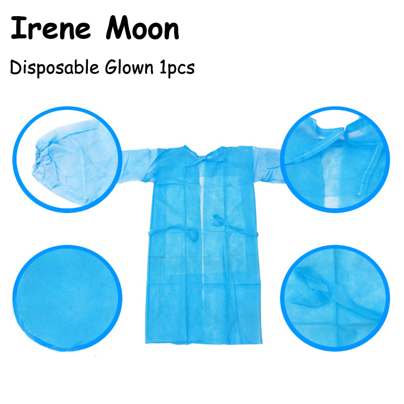 1pcs Disposable Body Tattoo Gown Thin And Light Dust Tattoo Clothes Overalls One-time Aprons Clothing Cleanroom Garment