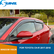 Car Window Deflector Visor For TOYOTA CH-R 2017 2018 Sun Shade Awnings Shelters Guards chr accessories SUNZ