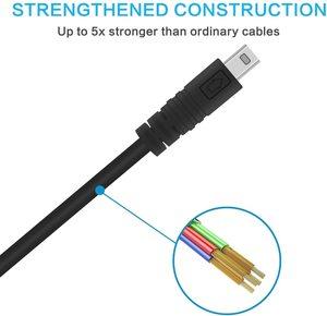 Image 5 - Erilles USB câble ligne de transmission adapté CASIO EX JE10 EX N5 EX ZS5 caméra de EX Z28