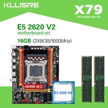 Conjunto da placa mãe do chipset de kllisre x79 com xeon lga2011 e5 2620 v2 2 × 8 gb = 16 gb 1600 mhz ddr3 ecc reg memória