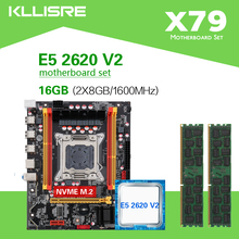 Набор материнских плат Kllisre X79 с чипсетом Xeon LGA2011 E5 2620 V2 2 × 8 ГБ = 16 Гб 1600 МГц DDR3 память ECC REG