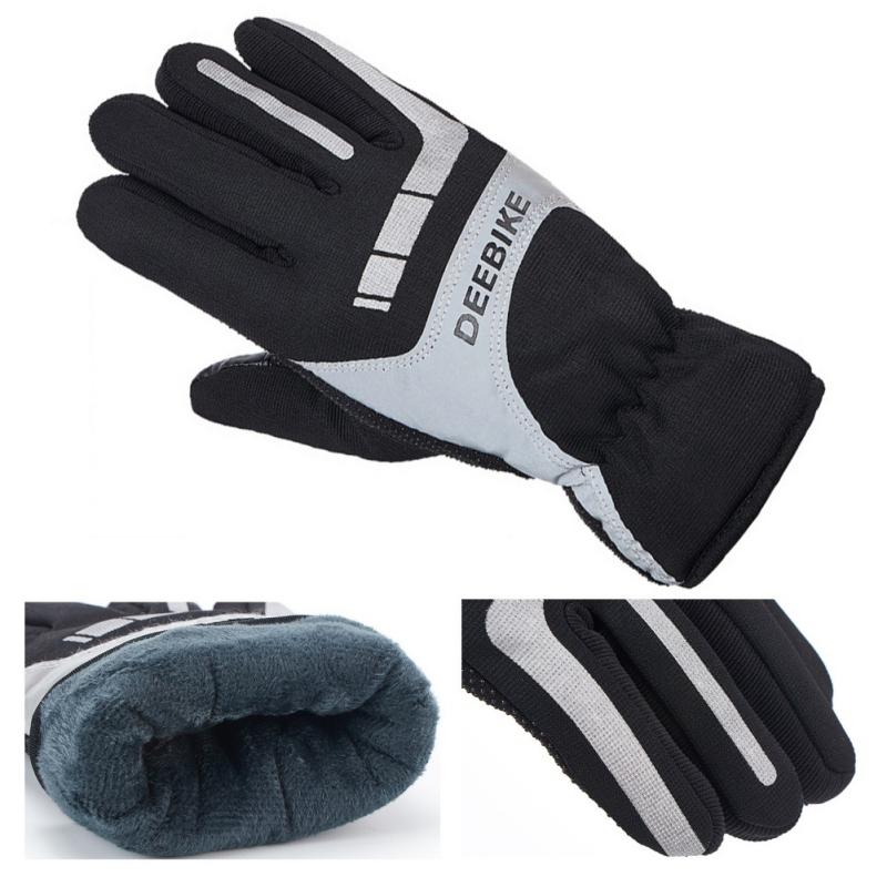 Men Women Winter Snow Gloves Warm Windproof Ski Gloves Touch Screen Fleece Snowboard Gloves Anti-slip Motorcycle Riding Gloves