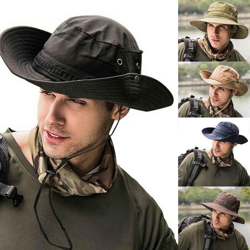 Meihuida 자외선 보호 양동이 모자 낚시 사냥 사파리 여름 남자 태양 모자 어부의 모자 여성 야외 모자 밀짚 양동이 모자