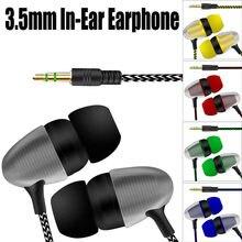 Ecouteurs CARPRIE ecouteurs filaires 3.5mm dans l'oreille écouteurs universels basse stéréo filaire casques pour Xiaomi Samsung iPhone en Stock