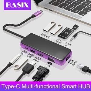 USB C HUB Type C to HDMI VGA U