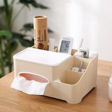 Nordic Multi Function Tissue Box Plastic Remote Control Storage Rack Home LivingRoom Simple Tray Desktop Holder Case