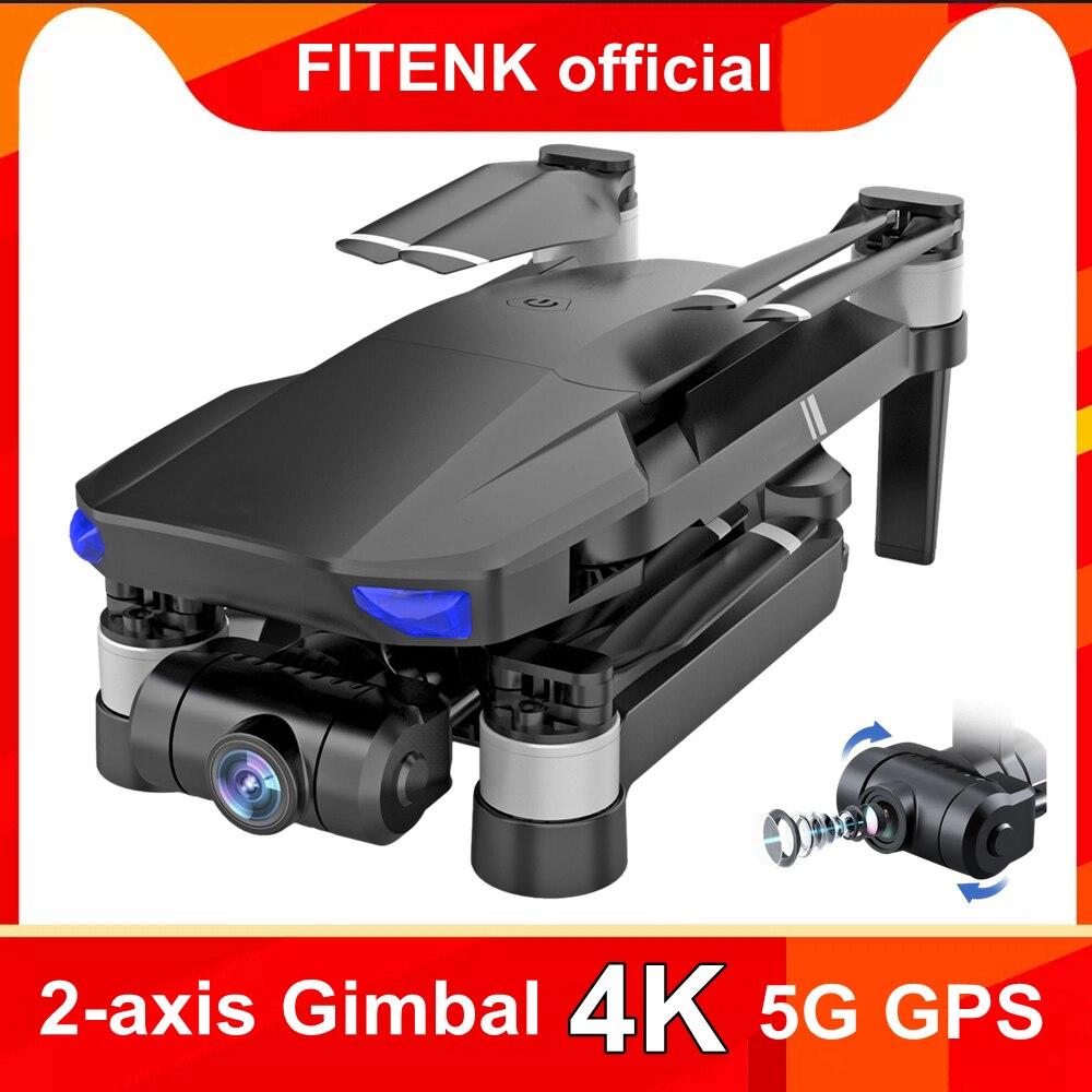 Profissional GPS, беспилотные летательные аппараты с 5G Wi-Fi 2 Ось Gimbal HD 4K Камера FPV Профессиональный RC бесщеточный Quadcopter Профессиональный вертолет