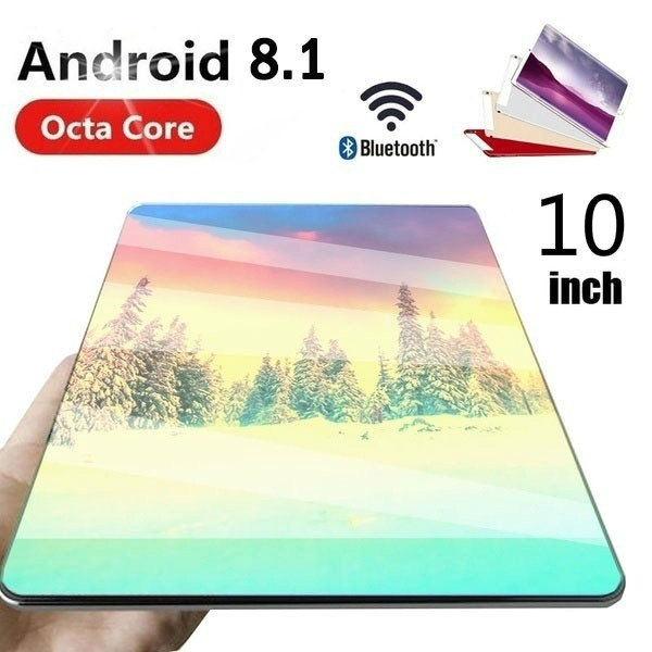 Gran oferta tabletas con 6G + 128GB de memoria grande pantalla de 10 pulgadas tabletas 10 Core Android 8,0 tabletas Dual de la tableta de la tarjeta de 4G llamada de teléfono
