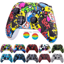 Nieuwe Silicone Beschermende Huid Case Voor Xbox One X S Controller Protector Water Transfer Printing Camouflage Cover Grips Caps