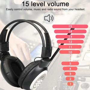 Image 4 - Retekess TR101 ווקמן אוזניות רדיו FM סטריאו אוזניות רדיו מקלט דיגיטלי FM שמיעה מגן Earmuff תמיכה AUX קלט