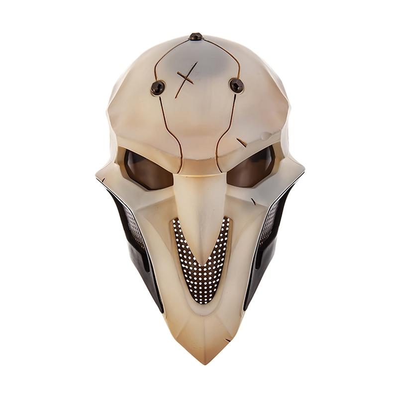 Overwatch OW Reaper Gabriel Reyes Cosplay Props Full-Face Mask Headgear Helmet Masquerade Halloween Accessory