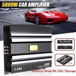 Автомобильный усилитель мощности, 5800 Вт, 4 канала, 12 В, автомобильный усилитель звука, усилитель для автомобилей, сабвуфер