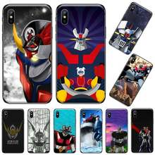Mazinger Z Op Japan Film Zwart Tpu Soft Phone Case Cover Voor Iphone 5 5 5s 5c Se 6 6 S 7 8 Plus X Xs Xr 11 Pro Max(China)