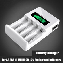 aaa battery charger LCD charger for aa nimh nicd battery 4 slots for 1.2v aa aaa rechargeable battery
