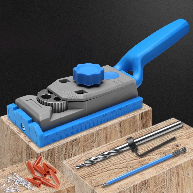 Woodworking Pocket Hole Jig Kit Set 9.5mm Drill Guide Sleeve  Wood Drilling Dowelling Hole Saw Master System