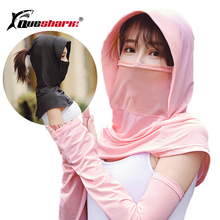 Hat Neck-Mask Arm-Sleeve Cycling Sun-Protection Hiking Running Summer with Visor Driving