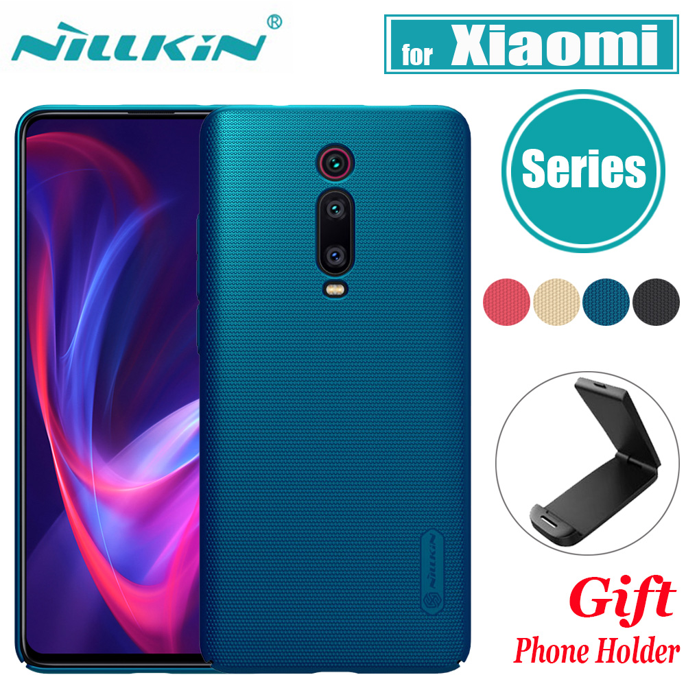 Für Xiao mi mi 9 SE mi 9 Lite 9T Pro A3 Fall <font><b>Nillkin</b></font> Bereifte Harte Kunststoff Volle Abdeckung fall auf Rot mi Hinweis 8T 8 7 Pro 8A 8 7A 7 Funda image