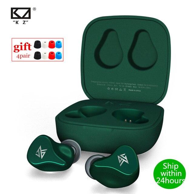 KZ Z1 TWS 10mm dinamik sürücü Bluetooth 5.0 gerçek kablosuz kulaklık oyun modu gürültü AAC kulak kulaklık KZ s1 S1D ZSX