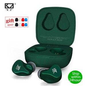 Image 1 - KZ Z1 TWS 10mm dynamiczny sterownik Bluetooth 5.0 prawdziwe bezprzewodowe wkładki douszne tryb gry z redukcją szumów AAC w ucho słuchawki KZ S1 S1D ZSX