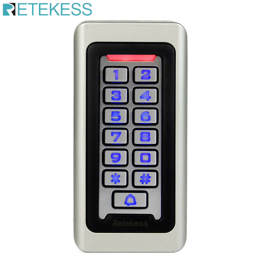 RETEKESS Rfid Door Access Control System IP68 Waterproof Metal Keypad Proximity Card Standalone Access Control With 2000 Users