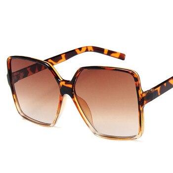 Higody Fashion Women Oversize Sunglasses Gradient Plastic Brand Designer Female Sun Glasses UV400 lentes de sol mujer 10