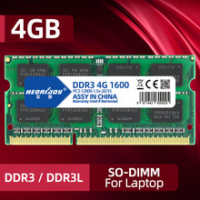 Ddr3 ram 4gb 1066 1333 1600mhz PC3-10600/12800 8gb para computador portátil sodimm 1.5v 1.35v ddr3l 2gb PC3-8500 da memória do caderno 16gb