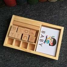 Детская игрушка картонная головоломка обучающая английской буквенной