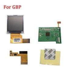 Juegos de pantalla LCD de repuesto para retroiluminación de pantalla GBP con cable de cinta para pantalla LCD de Nintendo GBP, consola de mando de videojuegos de Alta Luz, novedad