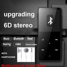 Obsługa 128GB odtwarzacz Mp4 Bluetooth Mp3 odtwarzacz ekran dotykowy przenośny telewizor Walkman wideo Sport Mp3 Walkman odtwarzacz muzyczny odtwarzacz multimedialny tanie tanio TEXNANO Flac 320x240 2 -4 Dyktafon E-czytanie książki Radio FM Przeglądarka zdjęć Klawisze dotykowe Metal mp4 player bluetooth full touch screen