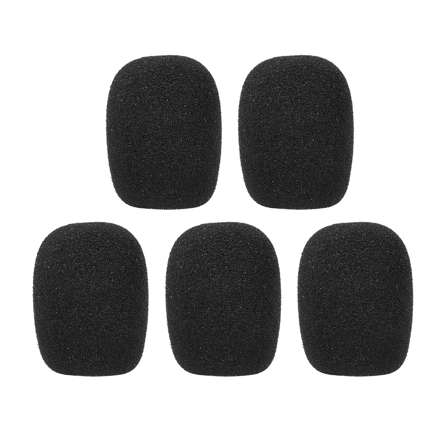 5pcs Mini Microphone Windscreens Mic Foam Covers for Lapel Lavalier Headset Microphone Accessaries