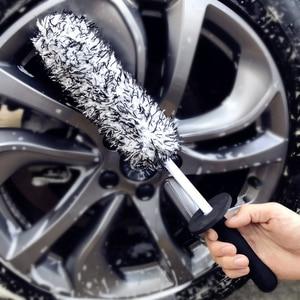 Image 5 - Lucullan üst mikrofiber Premium tekerlekler fırça kaymaz kolu kolay temizlik jantlar konuşmacı tekerlek varil ve fren kaliper