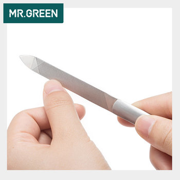 MR.GREEN Durable Nail File Stainless Steel Professional Double Sided Nail Sanding Grinding Buffer Manicure Nail Art Tools 1