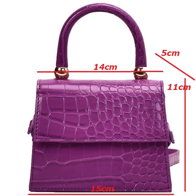 2020 Stone Pattern Leather Crossbody Bags