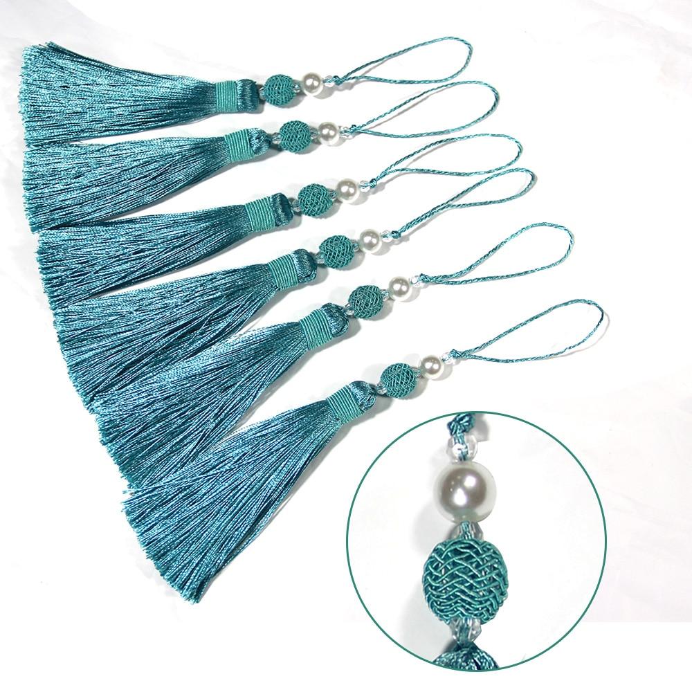 1Pc Gold Tassel Hanging Pendant Decorative Curtains Accessories Key Tassels For Curtain Tieback DIY Craft Tassel Fringe Trim