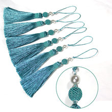 1Pc Gold Tassel Hanging Pendant Decorative Curtains Accessories Key Tassels For Curtain Tieback DIY Craft Tassel Fringe Trim