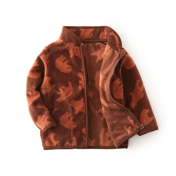 Fleece Baby Coat with Bear Ears 3